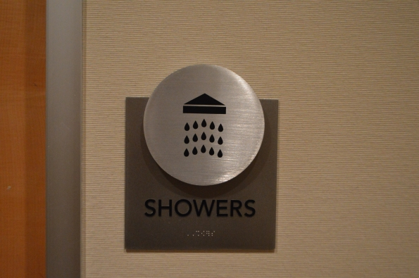 It's always nice to know you have the option of taking a shower!