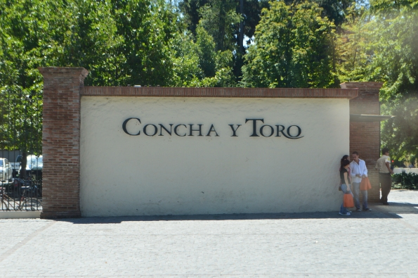 Entrance to Concha Y Toro Winery