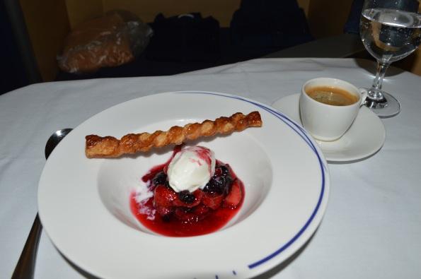 Dessert and espresso