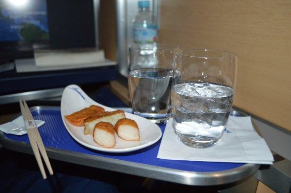 Shochu and fish cakes