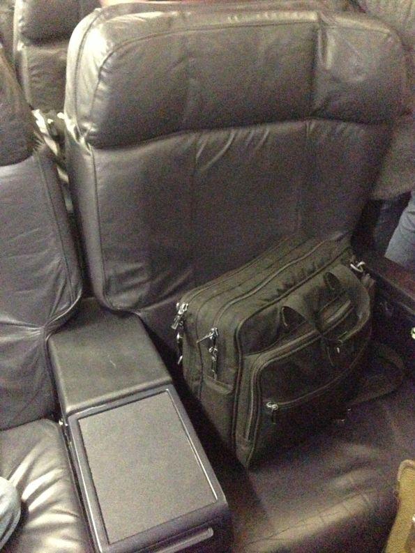 Standard domestic First Class seat