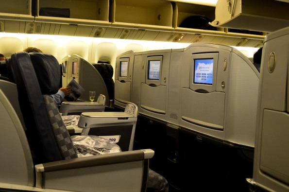 Last row of business class cabin