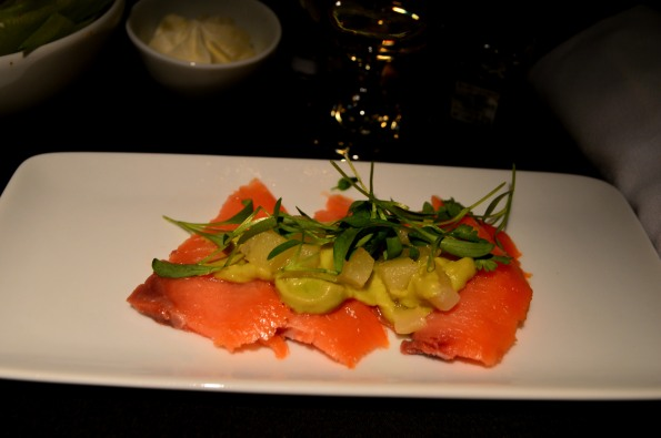 ...and salmon appetizer...