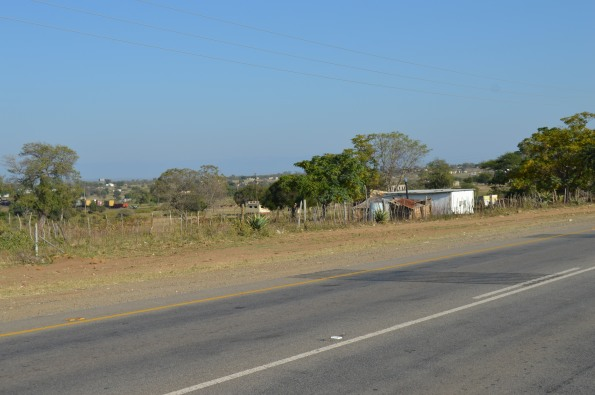 A typical road in central Swaziland