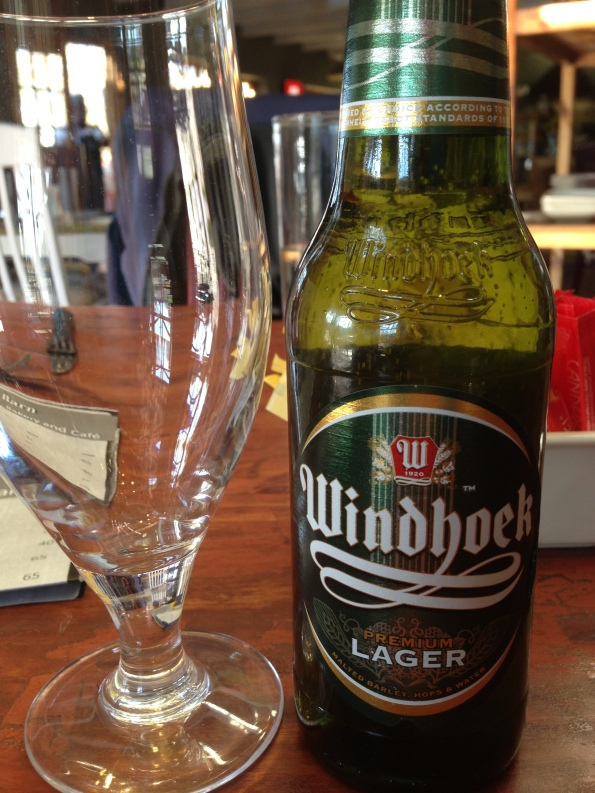 Namibian beer (Windhoek). South Africa has very good beer - Hansa and Castle above all! SAB Miller brewery is from here, too.
