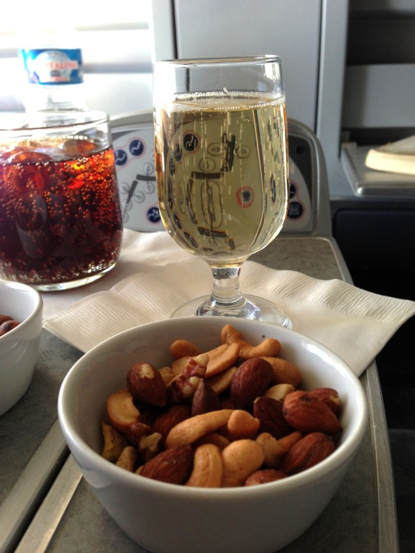 Gosset Champagne and warm nuts