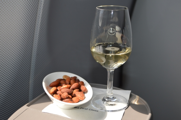 Champagne and salted almonds