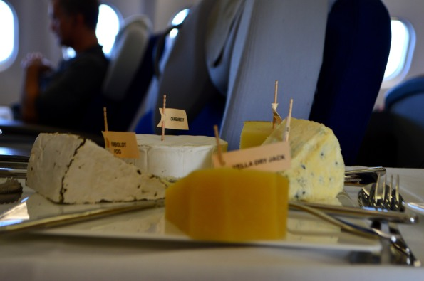 Cheese and dessert cart