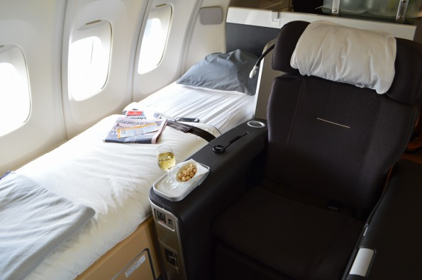 Seat + bed = bliss up in the air