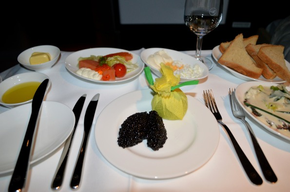 Properly-served caviar