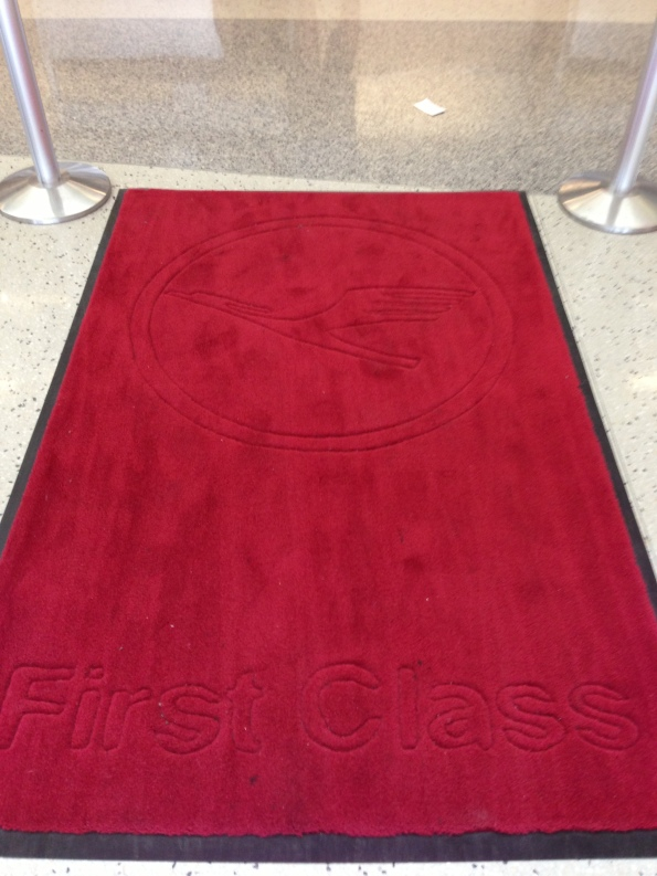 It's no First Class without red carpet! :D