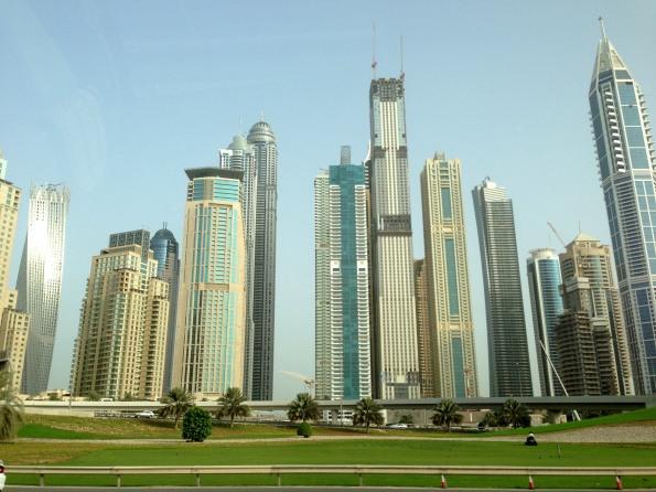 On my way to Abu Dhabi... Dubai Marina