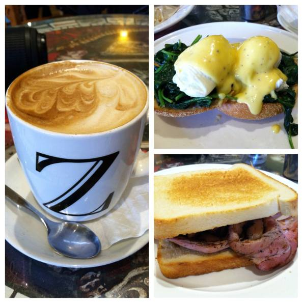 Eggs Florentine and Bacon Sandwich