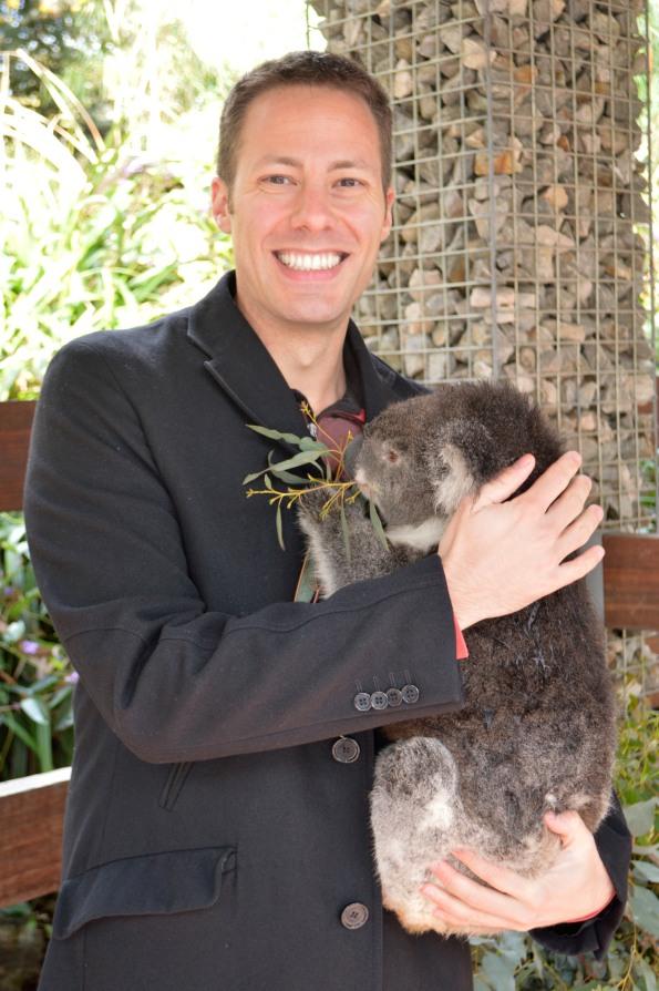 Celebrity shot with koala