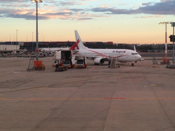 Air Niugini airplane at SYD airport