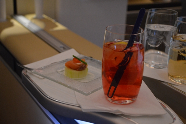 Campari & soda + amuse bouche