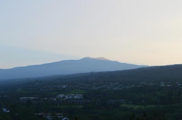 Mauna Kea as seen from my room
