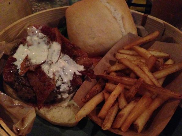 Amazing bacon blue burger