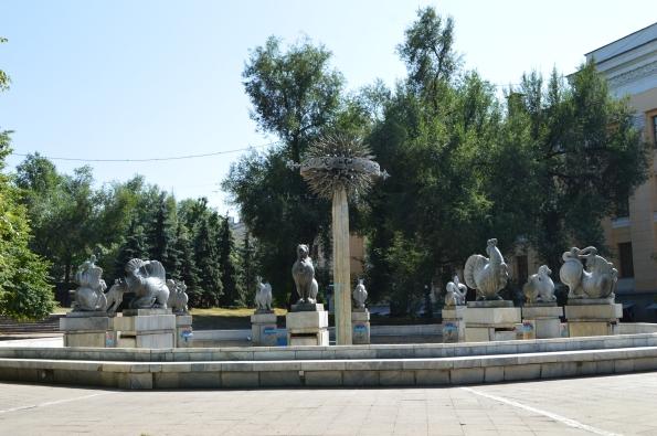 Chinese zodiac fountain