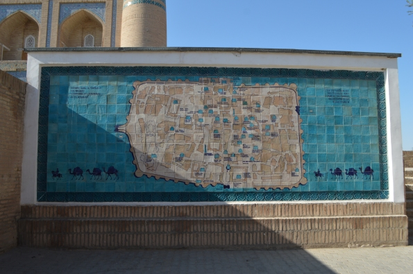 Tiled map of the city