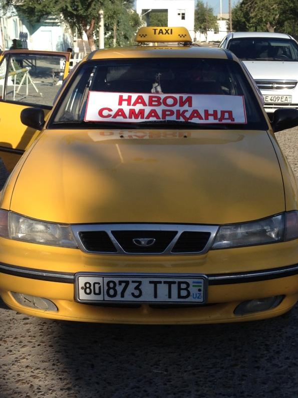 My taxi to Samarkand