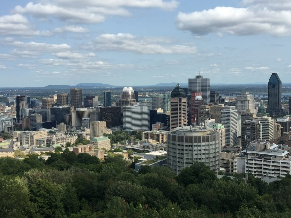 View from Mt Royal of downtown Montreal