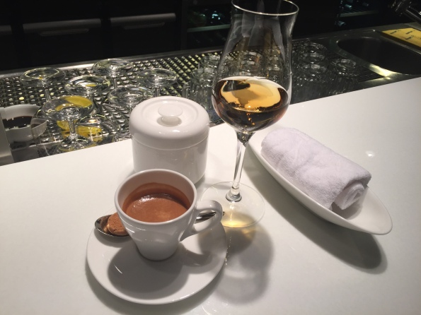 Espresso and grappa