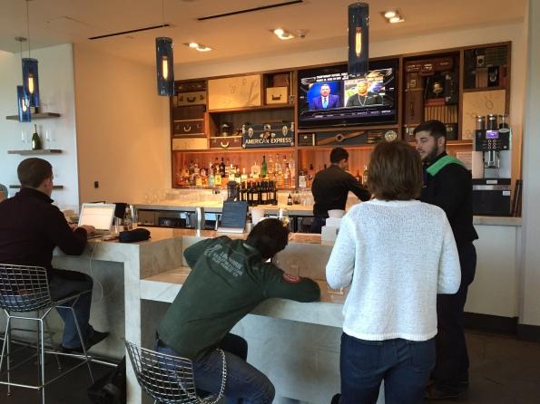 Centurion Lounge DFW bar