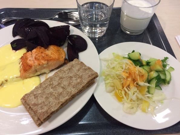 Cafeteria Finnish food - yum!