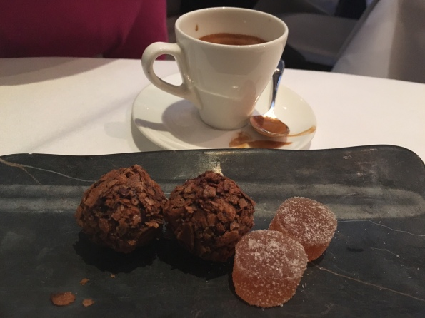 Espresso and petit four