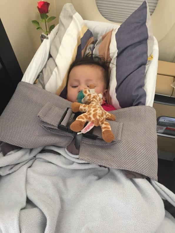 Olivia loved her cot!
